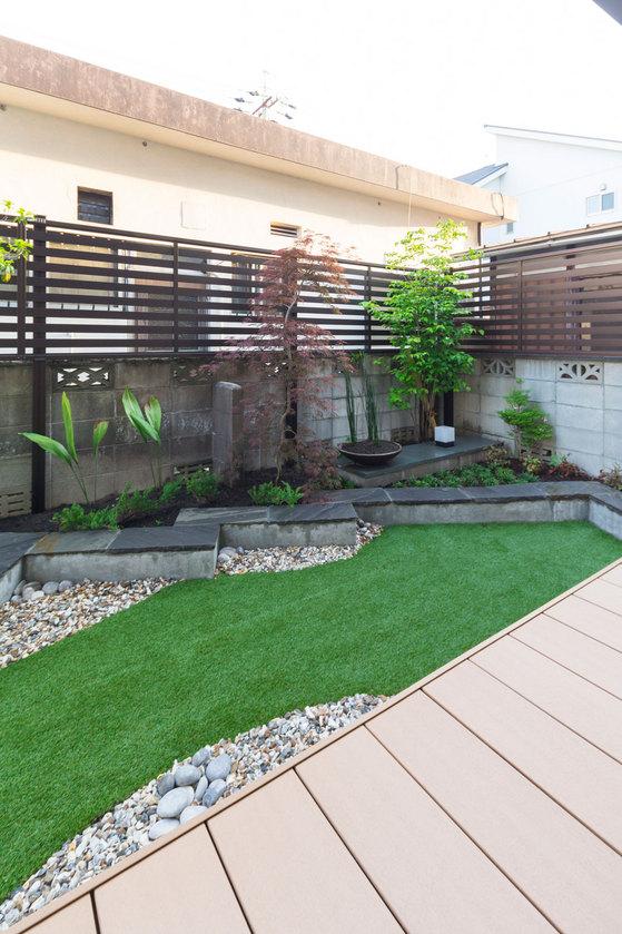 ウッドデッキ、庭、リフォーム