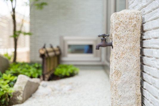 ガーデン、庭、立水栓