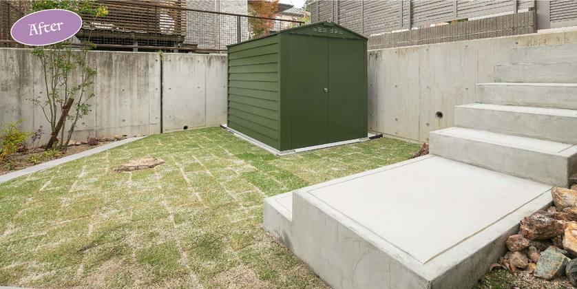 お庭,ガーデン,物置
