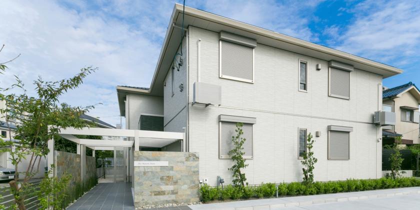 戸建のような開放感あるお庭が、アパートの資産価値を高めます。