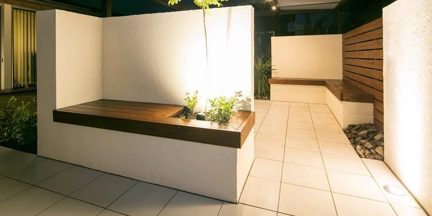 ガーデン、庭、ベンチ